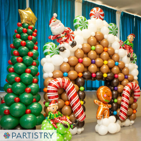 Gingerbread House Balloons