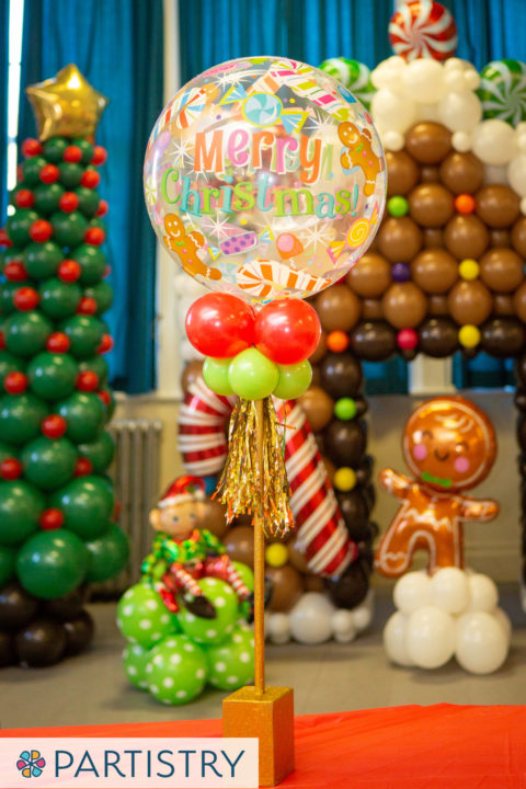Christmas Banquet Balloon Centerpieces