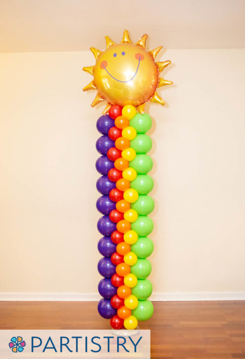 Sunshine Balloon Rainbow Balloon Tower