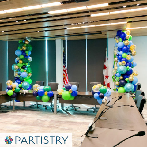 Washington DC corporate event balloon tower