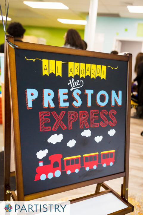 Train Themed Birthday - Custom Entrance Sign