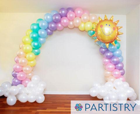 balloon arch rainbow baltimore