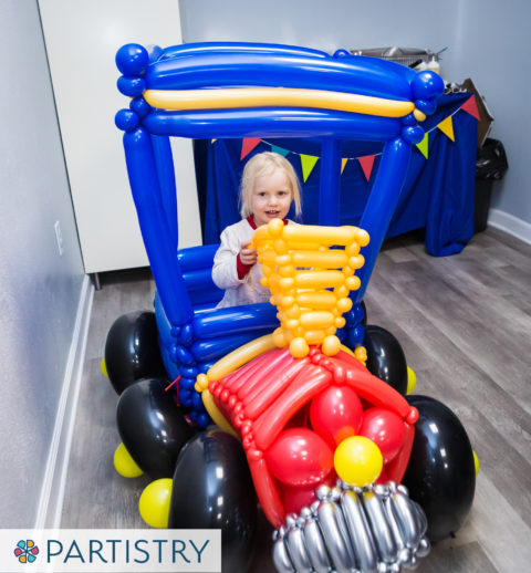 Train Themed Birthday - Balloon Train Photo Prop