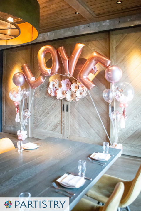 Jumbo Letter Balloon Bouquet